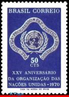Ref. BR-1175 BRAZIL 1970 ONU, UN, 25TH ANNIVERSARY OF THE, UNITED NATIONS, UN EMBLEM, MI# 1269, MNH 1V Sc# 1175 - Brasilien