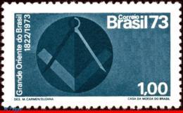 Ref. BR-1303 BRAZIL 1973 - FREE MASONS OF BRAZIL,, MASONIC EMBLEM, MI# 1389, MNH, FREEMASONRY 1V Sc# 1303 - Franc-Maçonnerie