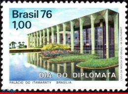 Ref. BR-1432 BRAZIL 1976 ARCHITECTURE, DIPLOMATS' DAY, ITAMARATY, PALACE, DESIGNED NIEMEYER, MI# 1529, MNH 1V Sc# 1432 - Architecture