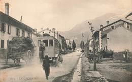 73 Lanslebourg Cpa Carte Animée Camion Auto Automobile Hotel Valloire - Autres Communes