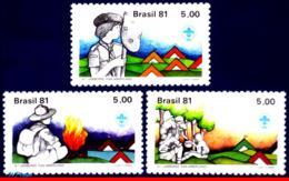 Ref. BR-1730-32 BRAZIL 1981 - 4TH PAN-AMERICAN SCOUT, JAMBOREE, MI# 1810-1812, SET MNH, SCOUTING 3V Sc# 1730-1732 - Brésil