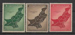 PAKISTAN 1955 UNIFICATION OF WEST PAKISTAN MAP MNH - Pakistan
