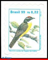 Ref. BR-2498A BRAZIL 1999 - 'BEM-TE-VIZINHO', ANIMALS, & FAUNA, MI# 2808, DEFINITIVE MNH, BIRDS 1V Sc# 2498A - Passereaux