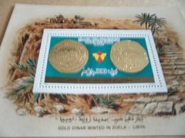 Miniature Sheets Libya Gold Dinar Minted In Zuela - Libya