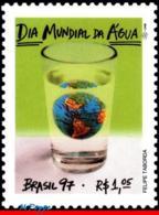 Ref. BR-2618 BRAZIL 1997 - WORLD DAY OF WATER,, GLOBE, MI# 2739, MNH, NATURE 1V Sc# 2618 - Umweltschutz Und Klima