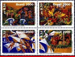Ref. BR-2738 BRAZIL 2000 JOINT ISSUE, WITH PORTUGAL, DISCOVERY, OF BRAZIL, SHIPS, MI# 3002-05, SET MNH 4V Sc# 2738 - Brasil