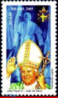 Ref. BR-2956 BRAZIL 2005 RELIGION, POPE JOHN PAUL II,, FAMOUS PEOPLE, MNH 1V Sc# 2956 - Papi