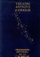 84 ORANGE CHOREGIES VAUCLUSE ART THEATRE SPECTACLE REVUE PROGRAMME - Autres