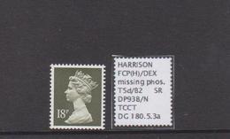 18p Ex DP93B , Missing Phosphor, MNH - 1952-.... (Elisabeth II.)