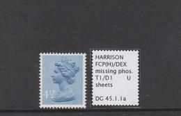4.5p FCP/DEX Machin With Missing Phosphor MNH - 1952-.... (Elisabeth II.)