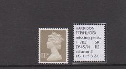 11½p Ex DP45 , Missing Phosphor, MNH - 1952-.... (Elisabeth II.)