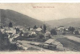SERVANCE . VUE GENERALE . LE CENTRE . TRAIN DE BOIS EN GARE . AFFR LE 4-8-1914 . 2 SCANES - Autres Communes
