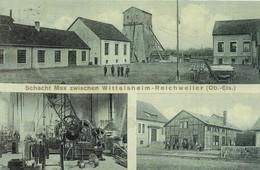 Wittelsheim & Richwiller (68, Alsace) - Carte Postale - Les Mines. (2 SCANS). - France