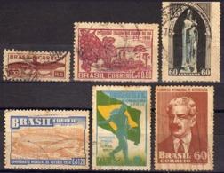Ref. BR-U1933-50 BRAZIL 1933 ., AND 1950 - USED 6V - Brésil