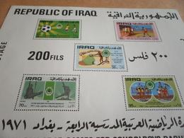 Miniature Sheets Iraq 4th Pan Arab Games For Schoolboys Baghdad 1971 - Iraq