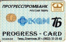 RUSSIA - Zolotaya Korona(payment System), Progress Card, Used - Geldkarten (Ablauf Min. 10 Jahre)