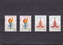 Ecuador Nº 996 Al 997 Y A712 Al A713 - Ecuador