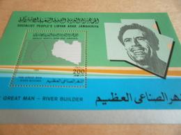 Miniature Sheets Libya Great Man River Builder - Libya