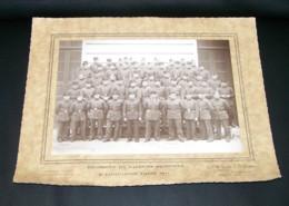 RARE ANCIENNE GRANDE PHOTO REGIMENT DE SAPEURS POMPIERS 8è COMPAGNIE PARIS 1941 ( SAPEUR POMPIER ) - Berufe