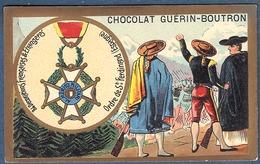 Chromo Chocolat Guerin-Boutron Décorations Françaises Et étrangères Ordre De Saint Ferdinand Espagne 1811 Ferdinand VII - Guerin Boutron