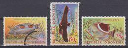 Indonesie Indonesia 836-838 Used ; Vissen, Fish, Poissons, Pescado 1975 NOW MANY STAMPS OF ANIMALS - Vissen