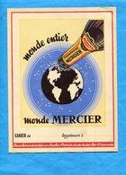 CHAMPAGNE-MERCIER- 3 Protèges  Cahier-au Dos Historique Du Champagne - Buvards, Protège-cahiers Illustrés