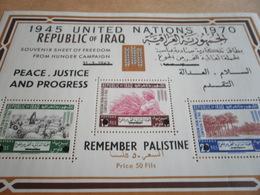 Miniature Sheets Iraq 1970 United Nations Peace Justice And Progress - Iraq