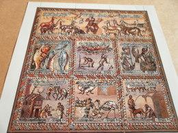 Libya Roman MosaicPerf Set Of Nine Stamps Sheetlet - Libya
