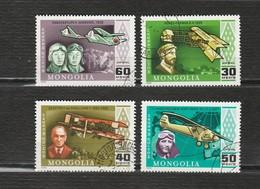 Mongolie - Lot 4 Timbres Les Avions - Année 1978 - PA 93 à PA 96 - Mongolia