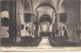 19065. MONTBOZON . INTERIEUR DE L'EGLISE . CARTE ECRITE AU VERSO - Autres Communes