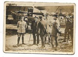 MILITAIRE - Guerre 1914-18 - Clemenceau Visite L'aviation Française Camp Near Front - Format 11 X 8 Cm - Guerre 1914-18