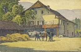 SUISSE CARTE ILLUSTREE E SCHLATTER Litho BAUERNHOF IM KESTENHOLZ EDITEUR FRATELLI FRERES 15 - 1900-1949