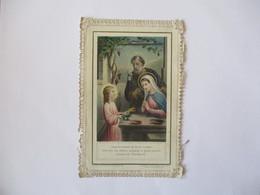 PARIS LE 16 MAI 1907 SUZANNE ROSSIGNOL SOUVENIR DE MA 1ère COMMUNION DANS LA RETRAITE DE LA VIE CACHEE JESUS DES SON ENF - Devotion Images