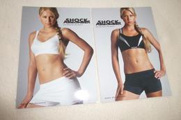 2 CARTES PUBLICITE ...AVEC LA BELLE JOUEUSE DE TENNIS ANNA KOURNIKOVA - Sportifs