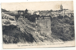 1438. TAZA . VUE PARTIELLE SUR LES FORTIFICATIONS , LES OLIVIERS ET LA VILLE . CARTE ECRITE AU VERSO LE 3 AVRIL 1919 - Autres