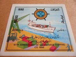 Miniature Sheets Iraq 10th Anniversary Of UA Shipping - Iraq