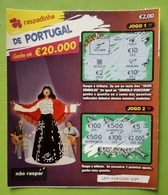 Billet De Loterie Instantanée,Portugal - Billets De Loterie