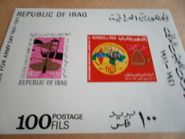 Miniature Sheets Iraq Golden Jubilee For Army Day 1971 - Iraq