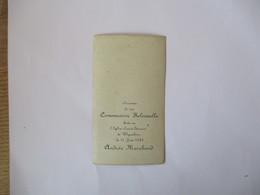 WIGNEHIES ANDREE MARCHAND SOUVENIR DE MA COMMUNION SOLENNELLE FAITE EN L'EGLISE SAINT-ETIENNE LE 16 JUIN 1935 - Devotion Images
