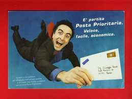 (Riz1) Italia 1999 - POSTA PRIORITARIA . Cartolina Ufficiale, Vedi Descrizione. - Poste & Postini