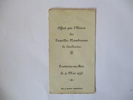 FONTAINE AU BOIS LE 31 MAI 1936 OFFERT PAR L'UNION DES FAMILLES NOMBREUSES DE LANDRECIES IMP. A. DRUEZ - Devotion Images
