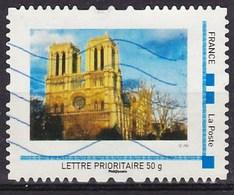 """MonTimbraMoi Personnalisé Oblitéré """"Photo Notre Dame De Paris"""", Lettre 50gr - France"""