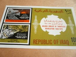 Miniature Sheets Iraq Golden Jubilee Of 20th Revolution 1970 - Iraq