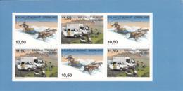 Greenland 2013 MNH Sc 641-642 Dogsled, Postal Van EUROPA Left Booklet Pane Of 6 - Groenland