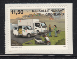 Greenland 2013 MNH Sc 642 11.50k Postal Van EUROPA - Groenland