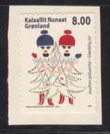 Greenland 2012 MNH Sc 632 8k Red And Blue Inuit Girls As Christmas Trees - Groenland