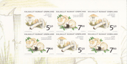 Greenland 2006 MNH Sc 480a Mushrooms Left Booklet Pane Of 6 - Groenland