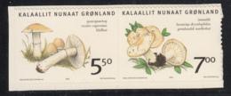 Greenland 2006 MNH Sc 479-480 Mushrooms Booklet Pair - Groenland
