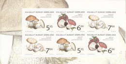 Greenland 2005 MNH Sc 451a Mushrooms Left Booklet Pane Of 6 - Groenland
