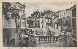 NOCERA TIRINESE - PIAZZA S.GIOVANNI E VEDUTA DEL CONVENTO DEI CAPPUCCINI - Catanzaro